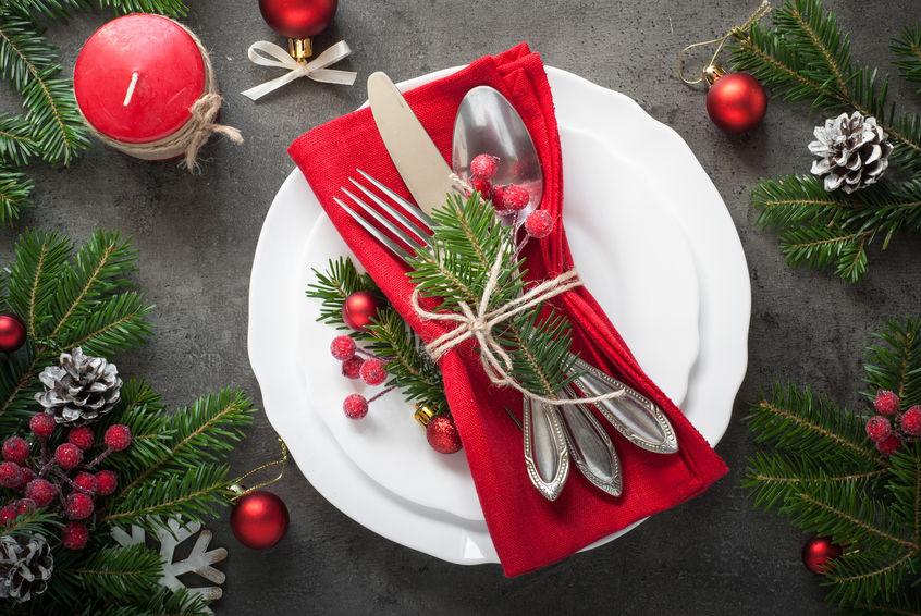 Aranjarea mesei de Crăciun
