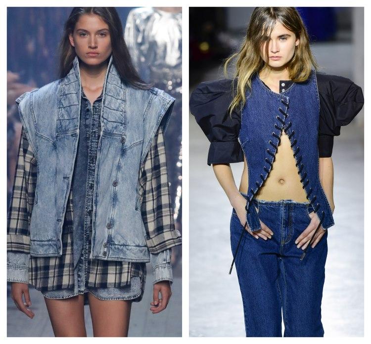 moda 2019. umeri XXL la tinute din jeans