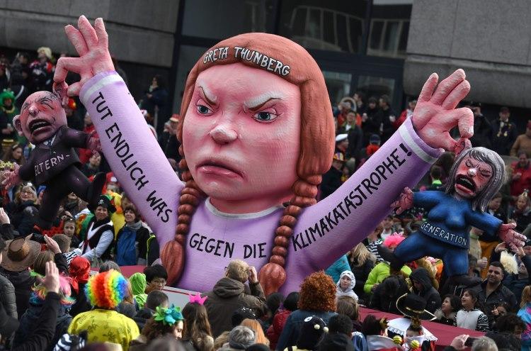 Greta Thunberg mars pentru schimbarile climatice
