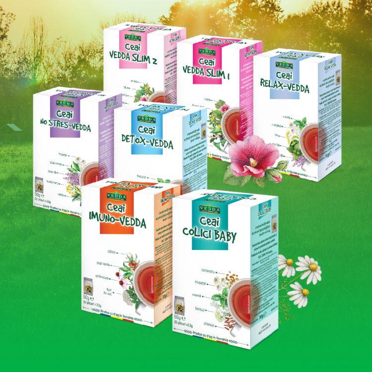 Ce afecțiuni tratează noua gamă de ceaiuri marca Vedda