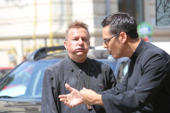 Vizante și Ștefan Bănică, peripeții pe platourile de filmare