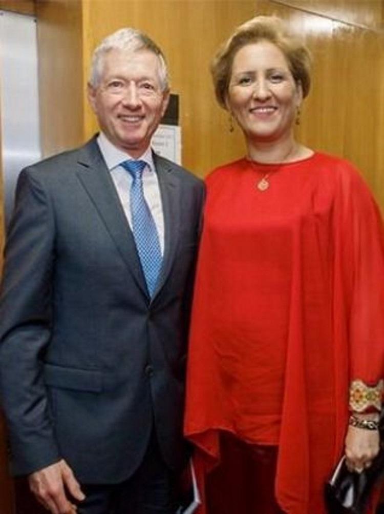 Timothy Walker, directorul executiv şi artistic al London Philharmonic Orchestra, şi Liliana Ţuroiu, preşedintele ICR