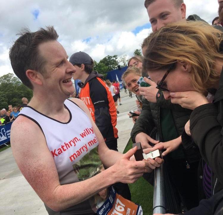 cerere in casatorie la maraton