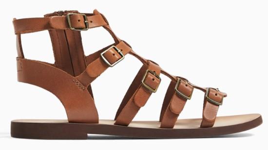 zara, sandale romane din piele, 159,90 lei