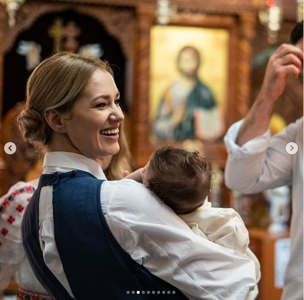 Feli Donose și-a botezat fetița. Primele imagini de la eveniment