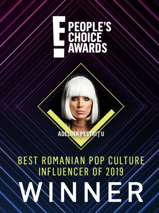 E! People's Choice Awards: Adelina Pestrițu, desemnată Best Romanian Pop Culture Influencer
