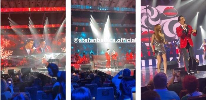 Ce făcea Lavinia Pîrva în timp ce Ștefan Bănică și fiul său cântau pe scenă
