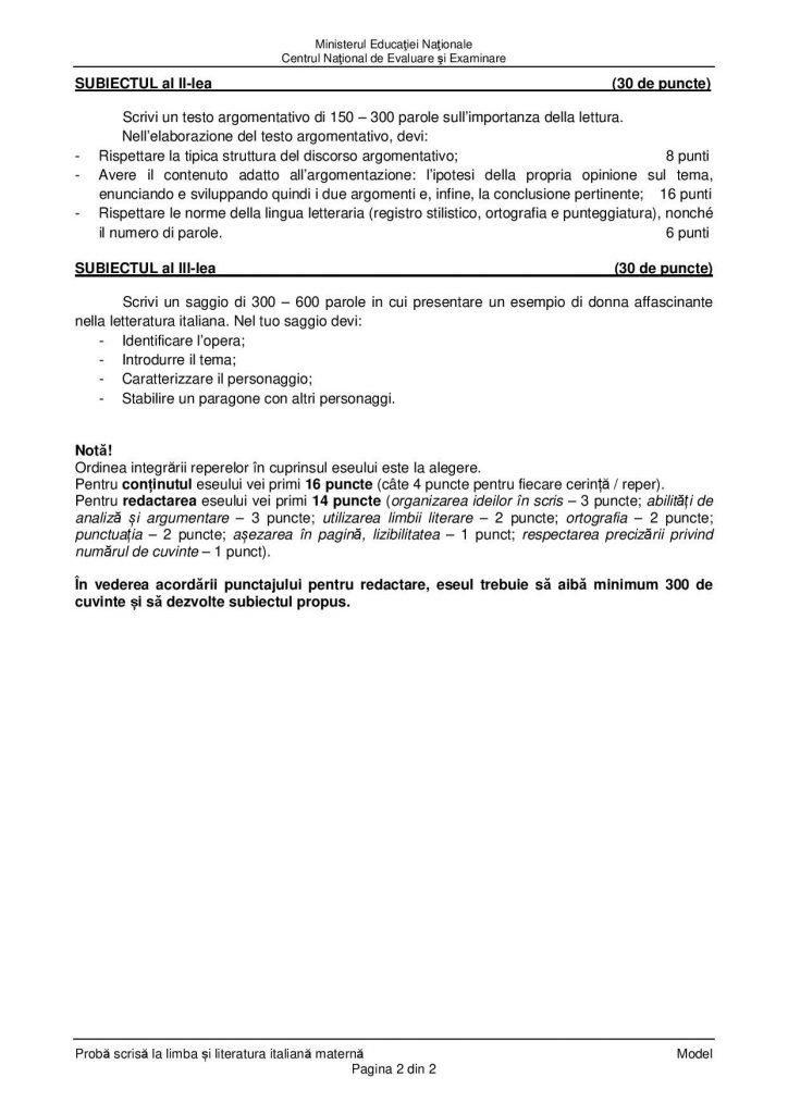 BAC 2020. Subiecte, barem de corectare, informații utile